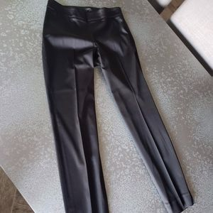 Talbots Black Sateen Side-Zip Ankle Pants Size: 6